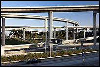 Highway interchange, Watts. Watts, Los Angeles, California, USA (color)