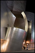 Walt Disney Concert Hall at night. Los Angeles, California, USA ( color)