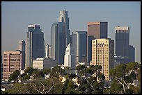 Skyline with city hall. Los Angeles, California, USA (color)