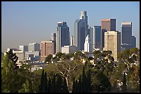 Financial center skyline. Los Angeles, California, USA