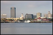 Skyline, late afternoon. Long Beach, Los Angeles, California, USA (color)