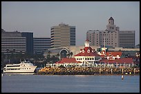 Parkers Lighthouse and skyline. Long Beach, Los Angeles, California, USA ( color)