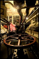 Boiler room of the Queen Mary. Long Beach, Los Angeles, California, USA (color)