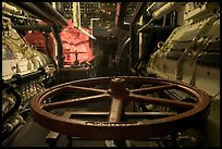Engine room of the Queen Mary. Long Beach, Los Angeles, California, USA