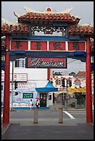 Gate, Chinatown. Los Angeles, California, USA ( color)