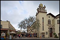 Church and Olvera Street, El Pueblo historic district. Los Angeles, California, USA ( color)