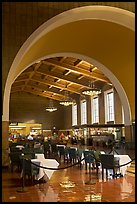 Central hall in Union Station. Los Angeles, California, USA (color)