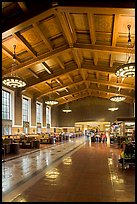 Interior of Union Station. Los Angeles, California, USA