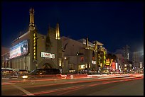 Mann Chinese Theatre at dusk. Hollywood, Los Angeles, California, USA