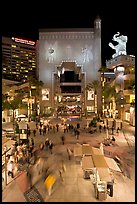 Hollywood and Highland shopping and entertainment complex at night. Hollywood, Los Angeles, California, USA (color)