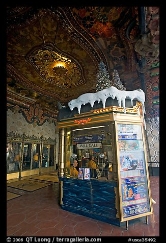 Box office of El Capitan Theatre. Hollywood, Los Angeles, California, USA