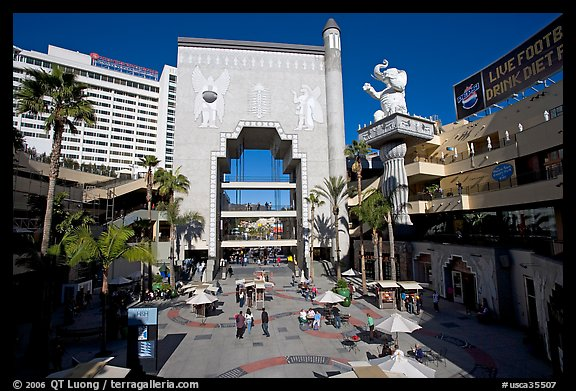 Babylon court of the Hollywood and Highland complex. Hollywood, Los Angeles, California, USA (color)