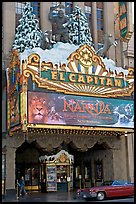 Spanish colonial facade of the El Capitan theatre. Hollywood, Los Angeles, California, USA ( color)