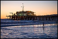 Pier at sunset. Santa Monica, Los Angeles, California, USA ( color)