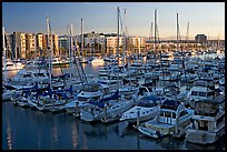 Marina at sunrise. Marina Del Rey, Los Angeles, California, USA