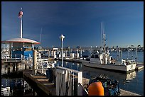 Fishing boat and harbor gas station. Marina Del Rey, Los Angeles, California, USA ( color)