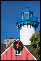 Lighthouse, Fishermans village. Marina Del Rey, Los Angeles, California, USA ( color)