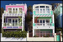 Colorful beach houses. Santa Monica, Los Angeles, California, USA (color)