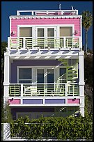 Colorful beach house. Santa Monica, Los Angeles, California, USA ( color)