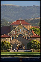Memorial Church and foothills, late afternoon. Stanford University, California, USA (color)