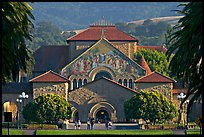 Memorial Church and main Quad, late afternoon. Stanford University, California, USA ( color)
