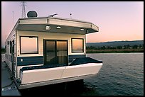 Houseboat, sunset. Redwood City,  California, USA (color)