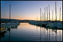 Marina, sunset. Redwood City,  California, USA (color)