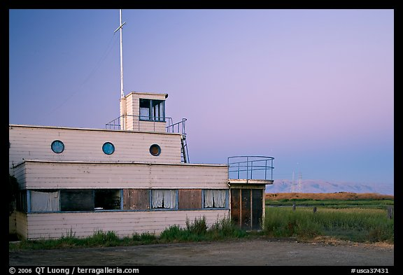 Old yacht club, Baylands Park. Palo Alto,  California, USA (color)