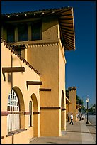 Burlingame historic train depot. Burlingame,  California, USA (color)