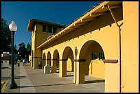 Former Southern Pacific Railroad depot. Burlingame,  California, USA (color)