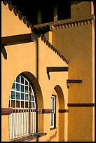 Detail of adobe style train depot. Burlingame,  California, USA ( color)