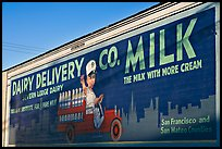 Vintage advertising mural, one of the first of its kind. Burlingame,  California, USA ( color)