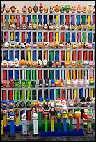 Collection of Pez dispensers, Pez museum. Burlingame,  California, USA (color)