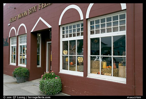 Half Moon bay feed store. Half Moon Bay, California, USA (color)