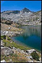 Saddlebag lake and peak, John Muir Wilderness. California, USA ( color)
