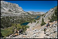 Valley and Long Lake, John Muir Wilderness. California, USA