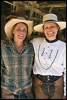 Horsewomen, Parchers Camp. California, USA ( color)
