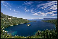 Wide view of Emerald Bay and Lake Tahoe, California. USA ( color)