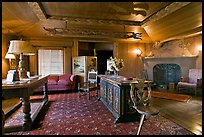 Living room, Vikingsholm castle, Lake Tahoe, California. USA ( color)