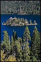 Fannette Island and Tea House, Emerald Bay State Park, California. USA