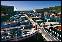 Sunnyside marina, West Shore, Lake Tahoe , California. USA (color)