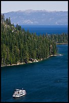 Paddle boat, Emerald Bay, and Lake Tahoe, California. USA ( color)