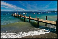 Dock on a windy day, West shore, Lake Tahoe, California. USA (color)