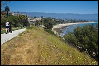 Coastal walkway and beach. Santa Barbara, California, USA ( color)
