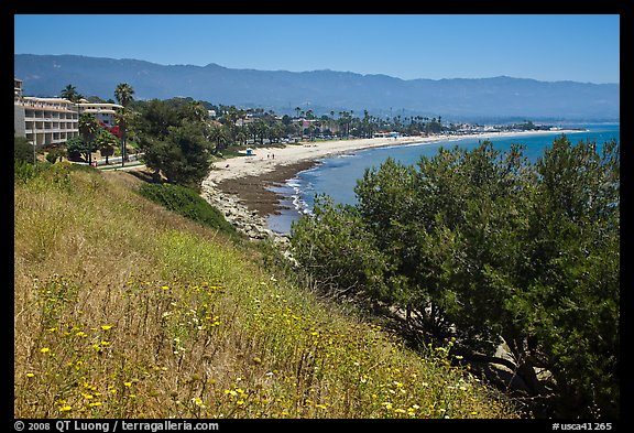 Hillside and waterfront. Santa Barbara, California, USA (color)