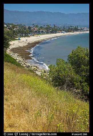Hillside and West Beach. Santa Barbara, California, USA (color)