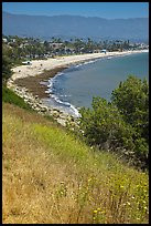 Hillside and West Beach. Santa Barbara, California, USA ( color)