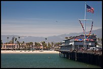 West Beach and Wharf. Santa Barbara, California, USA (color)