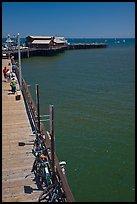 Stearns Wharf from above. Santa Barbara, California, USA