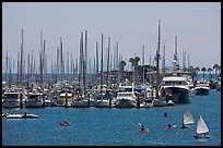 Santa Barbara Harbor. Santa Barbara, California, USA ( color)